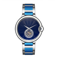 ingrosso orologi di alta qualità per uomo-Top Fashion Watch Flywheel Designer Neutrale di alta qualità Orologi da uomo e da donna Orologio di lusso in oro rosa Argento nero blu da polso