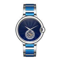 смотреть серебряную розу оптовых-Top Fashion Watch Маховик Дизайнер Высокого Качества Нейтральные мужские и женские часы Роскошные часы Розовое золото Серебро Черный Синий Наручные часы