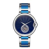 relógios de luxo rosa homem venda por atacado-Top Relógio de Moda Designer de Volante de Alta Qualidade Neutro dos homens e das Mulheres Relógios de Luxo relógio de Prata de Ouro Rosa Preto Azul relógio de Pulso