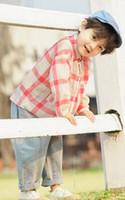ingrosso magliette rosse colletto-2019 Nuovi bambini di moda primavera Cotone rosso lattice V colletto t-shirt Cardigan studenti ragazzo vestiti Cappotto autunno