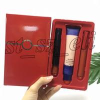 Wholesale concealer lipstick for sale - Group buy Famous Face and Lip Make Up Set Matte Liquid Lipstick Lip Gloss Face Fabric Second Skin Makeup Foundation Concealer