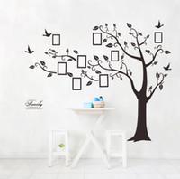 papel pintado auto-adhesivo del árbol al por mayor-Casa caliente Decoración de la pared Diseñador Árbol de memoria Foto Sala de estar creativa Papel tapiz plano Autoadhesiva Etiqueta de la pared Envío Gratis