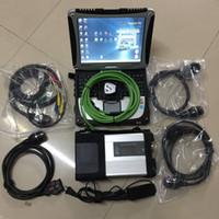 programador clave de corrección de kilometraje al por mayor-2019 nueva llegada Herramienta de diagnóstico MB STAR C5 con CF-19 hardbook laptop 4g ram ejecutar rápido instalado 360 gb ssd