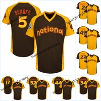 jerseygaard mayo toptan satış-2016 All-Star Jersey Men 5 Corey Seager 44 Anthony Rizzo 34 Nuh Syndergaard 52 Yoenis Céspedes Jersey 28 Buster Posey 34 Bryce Harper jerse