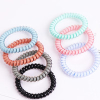 New Designer Accessories Candy Color Telephone Wire Cord Headband for Women Girls Elastic Hair Rubber Bands Hair Ties Hair Jewelry DHL Free