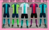 Wholesale numbered soccer jersey sets resale online - 2021 MAN KIDS Adult children s soccer clothing Jersey boys and girls football uniforms Soccer Sets competition suits custom printed number