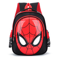 mochila escolar impermeable al por mayor-2018 3D 3-6 años Mochilas escolares para niños Mochilas impermeables Niño Spiderman Mochila para niños Bolso de hombro Mochila de mochila