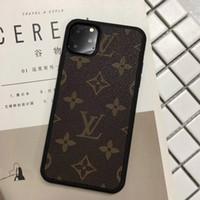estojos de metal para telemóvel venda por atacado-Casos de telefone Designer de Luxo para iPhone 11 Pro Max 6 7 8plus couro XS XR PU clássico fashion ponta macia tampa de proteção do telefone móvel