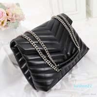Wholesale black quilted handbag gold chain for sale - Group buy designer handbags LOULOU Y shaped quilted real leather women bags chain shoulder bag high quality Flap bag multiple colour for L22