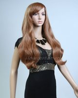 Wholesale cospaly wig resale online - New Quality Women Fashion Long Curly Hair Wig Cospaly brown Wigs