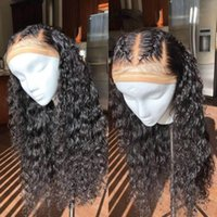 Wholesale real indian human hair wigs for sale - Real Remy Human Hair Wigs Bleached Knots Water Wave Glueless Unprocessed Virgin Brazilian Remy Hair Full Lace Front Wig Pre Plucked