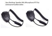 wasserdichtes lautsprechermikrofon großhandel-2 stücke Handheld Mikrofon wasserdicht Lautsprecher für BAOFENG UV-9R plus Walkie Talkie PPT Mikrofon Baofeng BF-A58 uv9R plus BF-9700