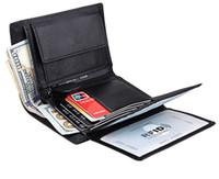 argent de portefeuille de note de luxe achat en gros de-Pince à billets en cuir véritable, portefeuille pour homme, porte-cartes long en cuir pour cartes en cuir, portefeuille de luxe pour hommes
