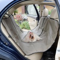 Wholesale oxford seat covers resale online - Oxford Heavy Duty Waterproof Pet Dog Car Hammock Back Seat Cover Mat Coffee