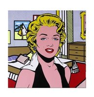 Wholesale marilyn monroe canvas prints for sale - Group buy Roy Lichtenstein Comic Marilyn Monroe High Quality HandPainted HD Print Portrait Wall Art Oil Painting On Canvas Home Decor Multi sizes R17
