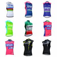 Wholesale bike kuota resale online - 2019 LAMPRE KUOTA team cycling sleeveless jersey bike vest summer pro men Quick Dry bicycle clothing top Mountain uniform