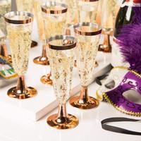 champanhe brindando vidros venda por atacado-Vidro Vinho Tinto plástico descartável brindar casamento flautas champanhe copo partido casamento decoração Wine