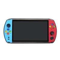 lcd ekran 7 inç toptan satış-X19 Oyun Konsolu 8GB 16GB Vedio Oyun 7inch LCD Renkli Ekran Retro Taşınabilir Oyun Oyuncu İçin Nostaljik Taşınabilir Joystick