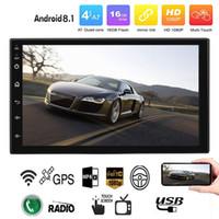 gps мультимедийный автомобильный стерео андроид оптовых-Android 8.1 Автомобильный радиоприемник Стерео GPS-навигация Bluetooth Wi-Fi Универсальный 7 '' 2din Автомобильный радиоприемник Стерео Quad Core Мультимедийный проигрыватель Аудио