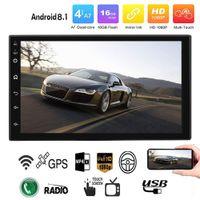 lecteur multimédia wifi achat en gros de-Autoradio 8.1 Stéréo GPS Navigation Bluetooth Bluetooth universel 7 '' Autoradio 2din Stéréo Quad Core Multimedia Player Audio