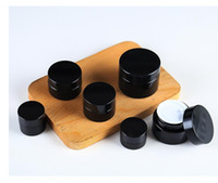 ingrosso contenitori crema viso-5g 10g 15g 20g 30g 50g 100g 100g ambra marrone vetro crema viso barattolo bottiglia rotonda riutilizzabile cosmetica lozione per il trucco contenitore contenitore