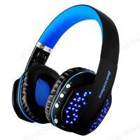 drahtloses bluetooth mikrofon für pc großhandel-Beexcellent Q2 Wireless Bluetooth-Kopfhörer Faltbares HiFi-Stereo-Headset mit Mikrofon LED-Licht-Freisprecheinrichtung für Telefone PC PS4