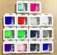 pochette iphone apple achat en gros de-Pour Apple Airpods Etui en silicone souple TPU Ultra Mince Protecteur Cover Sleeve Pouch pour Air pods Cas de silicone écouteur DHL gratuit