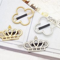 Wholesale gold starfish pins for sale - Group buy New Vintage Star Crown Four Leaf Clover starfish Bowknot Hair Pin Clip Hairpin Pretty Womens Girls Jewelry Accessories