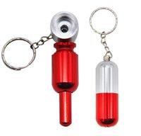caché porte-clé achat en gros de-Tuyau métallique détachable caché avec une chaîne