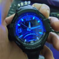 relógio impermeável à prova de água venda por atacado-Marca de esportes de luxo ga1000 aeronaves mens relógios 52mm noctilucentes à prova de choque e à prova d 'água esportes relógio de pulso militar à prova d' água atmos