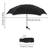 ingrosso parasole pieghevole anti uv-Ombrello pieghevole da donna a 6 colori piccolo ombrello da pioggia per donna regalo mini ombrellone da tasca per ragazze Ombrello da viaggio portatile impermeabile anti-UV