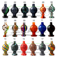 bong boru çivi toptan satış-Beracky US Color Glass Bubble Carb Cap UV Ball Carb Caps For Beveled Edge Quartz Banger Nails Glass Water Bongs Pipe Dab Rigs