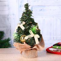 ingrosso albero di pino bonsai-Buon albero di Natale Mini Bonsai Pine Tree Ornament Table Standing Decor Decorazione natalizia per casa