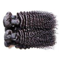 ingrosso tessuto reale dei capelli umani ricci-Liquidazione della fabbrica all'ingrosso brasiliano estensioni dei capelli umani tesse materiale reale dei capelli umani fatto 2 kg 20 pezzi lotto crespo ricci colore nero