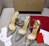 прозрачные вечерние платья оптовых-Оптовое горячие продавать высокого качество красных высокого каблука прозрачного ремня ногти неглубоко стиль рта ботинок платья повелительницы способа сексуального участник свадьба шо