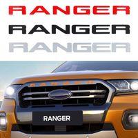 ingrosso adesivi per logo 3d-Per Ford Ranger 2015-2019 Grille top logo Dimensione Lettera Grill RANGER 3D Stick Emblem originale ABS Sticker con colla cromo Styling