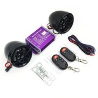 bluetooth anti-diebstahl-alarm großhandel-Motorrad Bluetooth Wasserdichte Anti-Diebstahl-Audio-Lautsprecher FM-Radio MP3-Musik-Player Roller Chopper Cruiser Moto Sicherheitsalarm