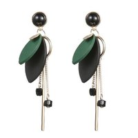 Wholesale Innovative new products thin ear nail temperament and personality of the han feng long tassel round earrings