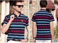 ingrosso mens moda polo-Designer Polo Mens Polo Camicie Uomo T shirt di lusso manica corta T-shirt alla moda Cavaliere Tops Abbigliamento 3 colori hotX2 opzionale