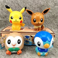 Wholesale car assembly toys for sale - Group buy 9cm inches Pikachu Eevee Blind Box Cute Animal Figures Assembly Toys styles pieces per set LA48