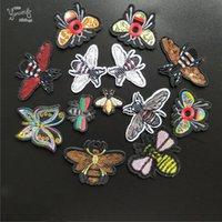 mariposa de motivos de hierro al por mayor-Nuevo llega la mariposa de abeja de costura ropa de hierro en parche de insectos parches bordados ropa apliques motivos coser en prendas de vestir pegatinas