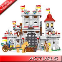Wholesale toy castle sets resale online - 1118pcs Compatible DIY Knight Castle Carriage Medieval Ausini Building Blocks Soldier Figures Set Bricks Toys Children
