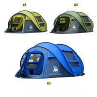 Wholesale large family outdoor tents resale online - Hui Lingyang Throw Tent Outdoor Automatic Tents Throwing Pop Up Waterproof Camping Hiking Tent Waterproof Large Family Tents MMA2131