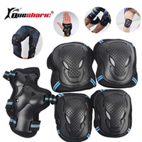 Wholesale knee pads skate protective gear resale online - 6pcs set Skating Protective Gear Set Elbow pads Wrist Support Ski Skateboard Ice Skate Roller Knee Brace For Adult Kids Gift