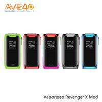 ingrosso touch box mod-Vaporesso Revenger X Vape Box Mod 220w Touch Screen fit NRG Aggiornamento serbatoio Vaporesso Tarot Nano Starter Kit