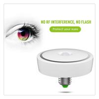 bombillas de luz infrarroja al por mayor-E27 12w LED Sensor de luz de detección de movimiento por infrarrojos PIR Diseño de circuito único de lámpara de bombilla blanca cálida