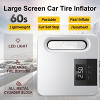 Wholesale car tire electric air pump for sale - Group buy Protable Large Screen Car Tire Inflator Air Pump Electric Car Air Compressor Mini Tire Inflator Auto Tyre Pumb V