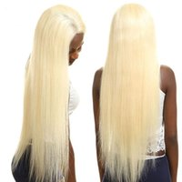 Wholesale 12 inches blonde lace wig for sale - Group buy Blonde Lace Front Wig Pre Plucked with Baby Hair Remy Peruvian Straight Human Hair Wigs Inches Density