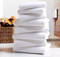 handtücher großhandel-Weißes Handtuch Hoteltücher Weißes weiches Handtuch Mikrofasergewebe Gesichtstuch Hauptreinigung Gesicht Badezimmer Hand Haar Bad Strandtücher