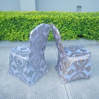 Wholesale universal chair covers sashes resale online - Fashion sparkly sequin Universal Stretch Spandex Chair Covers for Weddings Party Banquet Decoration Accessories Elegant Wedding Chair Covers